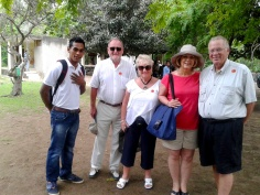 Louis leading a trekking party at Komodo