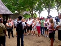 Louis with Komodo tourists