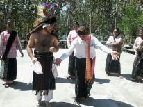 Tado dance with local villagers